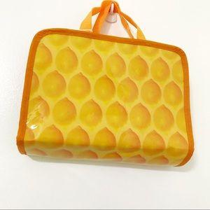 Lemon Print Travel Accessory Bag